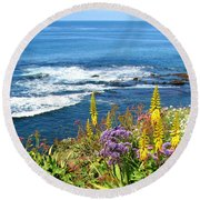 La Jolla Coast Round Beach Towel