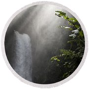 La Paz Waterfall Costa Rica Round Beach Towel