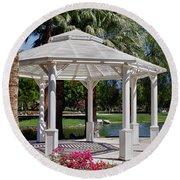 La Quinta Park Gazebo Round Beach Towel