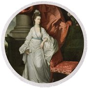 Lady Grant - Wife Of Sir James Grant Round Beach Towel