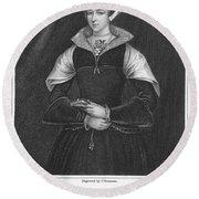 Lady Jane Grey (1537-1554) Round Beach Towel