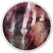 Lady Of The Mist Round Beach Towel