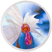 Lady Orchid Round Beach Towel