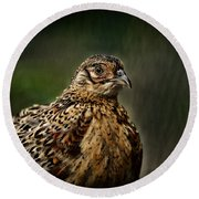 Lady Pheasant Round Beach Towel