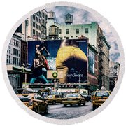 Lafayette And Houston Nyc Round Beach Towel by Chris Lord