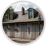 Lafittes Blacksmith Shop Bar New Orleans Round Beach Towel