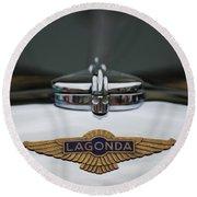 Lagonda Hood Emblem Round Beach Towel