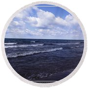Lake Erie At Evangola State Park 2 Round Beach Towel