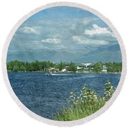 Lake Hood Anchorage Alaska Round Beach Towel