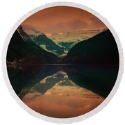 Lake Louise Abstract Round Beach Towel