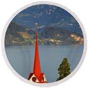 Lake Lucerne Round Beach Towel