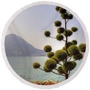 Lake Lugano - Monte Salvatore Round Beach Towel