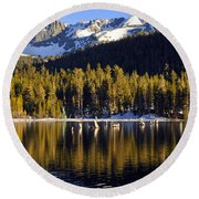 Lake Mary Golden Hour Round Beach Towel