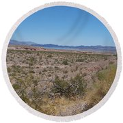Lake Mead Nevada Round Beach Towel