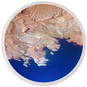 Lake Mead Shores Nv Planet Earth Round Beach Towel