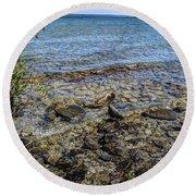 Lake Michigan 1 Round Beach Towel