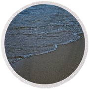 Lake Michigan Beach Round Beach Towel