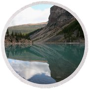 Moraine Lake - Lake Louise, Alberta Round Beach Towel