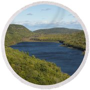 Lake Of The Clouds 1 Round Beach Towel