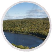Lake Of The Clouds 2 Round Beach Towel