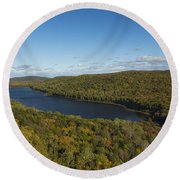 Lake Of The Clouds 3 Round Beach Towel