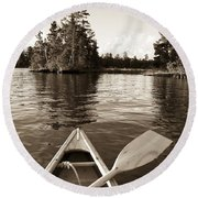 Lake Of The Woods, Ontario, Canada Boat Round Beach Towel