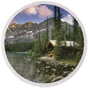 Lake Ohara Lodge Round Beach Towel