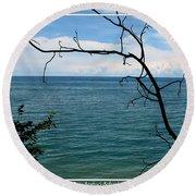 Lake Ontario Near Chimney Bluffs Round Beach Towel