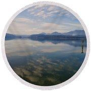 Lake Pend Orille  Round Beach Towel