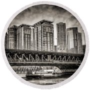 Lake Shore Drive Lsd Round Beach Towel