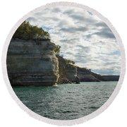 Lake Superior Pictured Rocks 10 Round Beach Towel