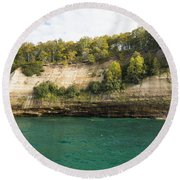 Lake Superior Pictured Rocks 11 Round Beach Towel