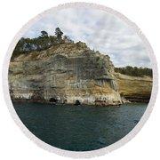 Lake Superior Pictured Rocks 27 Round Beach Towel