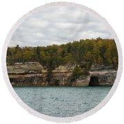 Lake Superior Pictured Rocks 45 Round Beach Towel