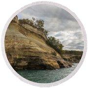 Lake Superior Pictured Rocks 53 Round Beach Towel