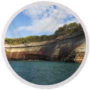 Lake Superior Pictured Rocks 6 Round Beach Towel