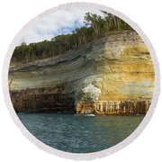 Lake Superior Pictured Rocks 8 Round Beach Towel