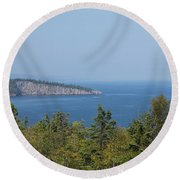Lake Superior Shovel Point 2 Round Beach Towel