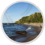 Lake Superior Union Bay 4 Round Beach Towel