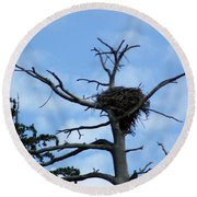 Lake Tahoe Eagle Nest Round Beach Towel