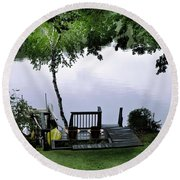 Lakeside Dream 2 Round Beach Towel