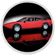 Lamborghini Urraco 1972 Round Beach Towel