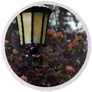 Lamp And Roses Round Beach Towel