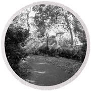 Lamps Of Central Park Round Beach Towel