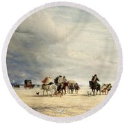 Lancaster Sands Round Beach Towel