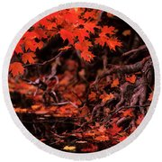 Land Of The Maple Round Beach Towel