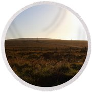Landscape At Point Reyes California . 7d9958 Round Beach Towel