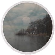 Landscape Of Dreams Round Beach Towel