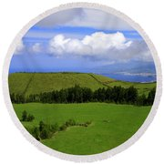 Landscape With Crater Round Beach Towel