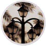 Lanterns And Fronds Round Beach Towel